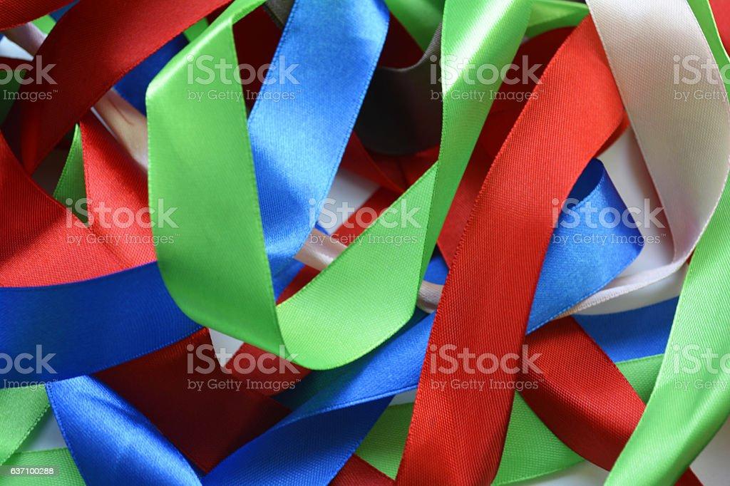 color ribbon stock photo