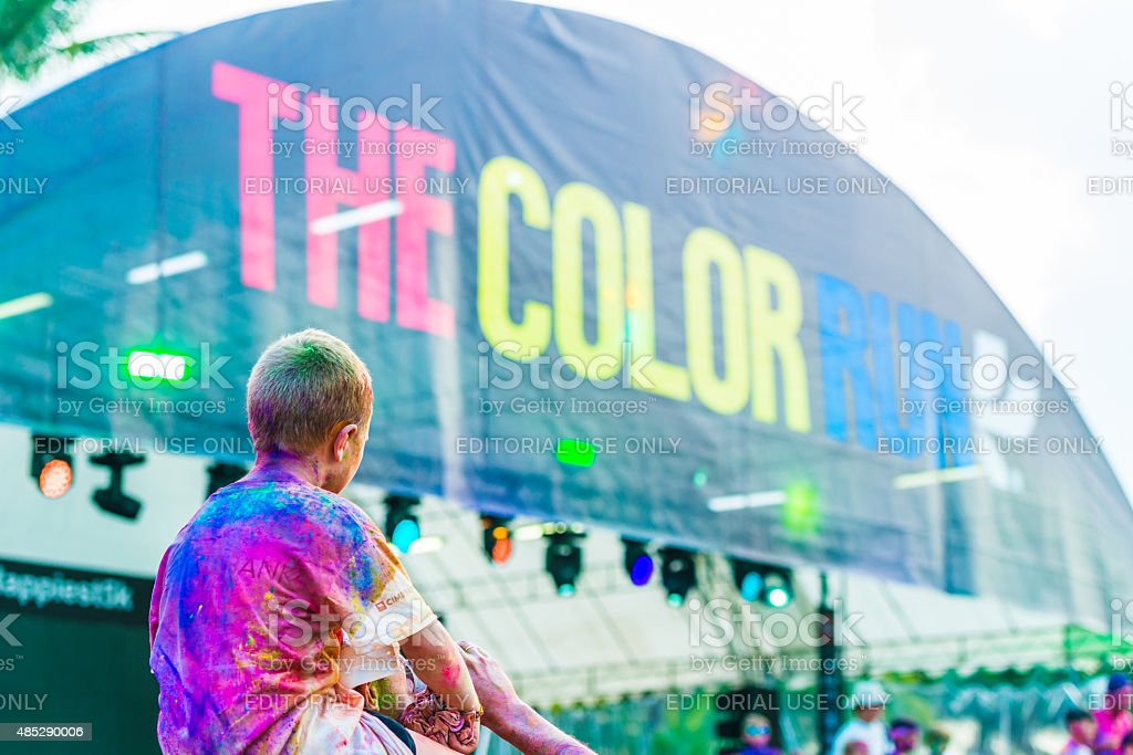 color run stock photo