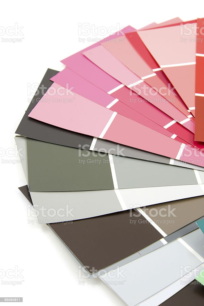 Color samples for painting royalty-free stock photo