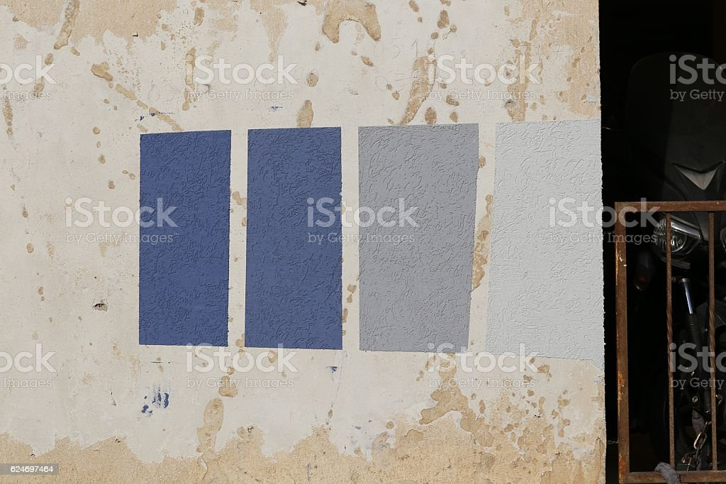 Color Samples on a Wall stock photo