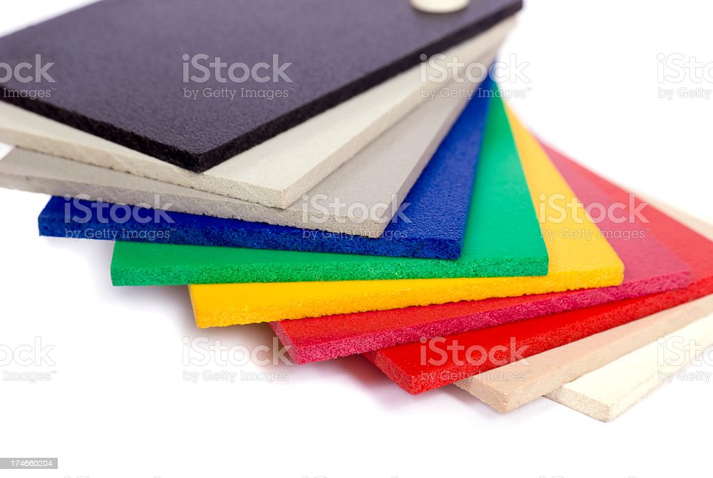 PVC color samples royalty-free stock photo