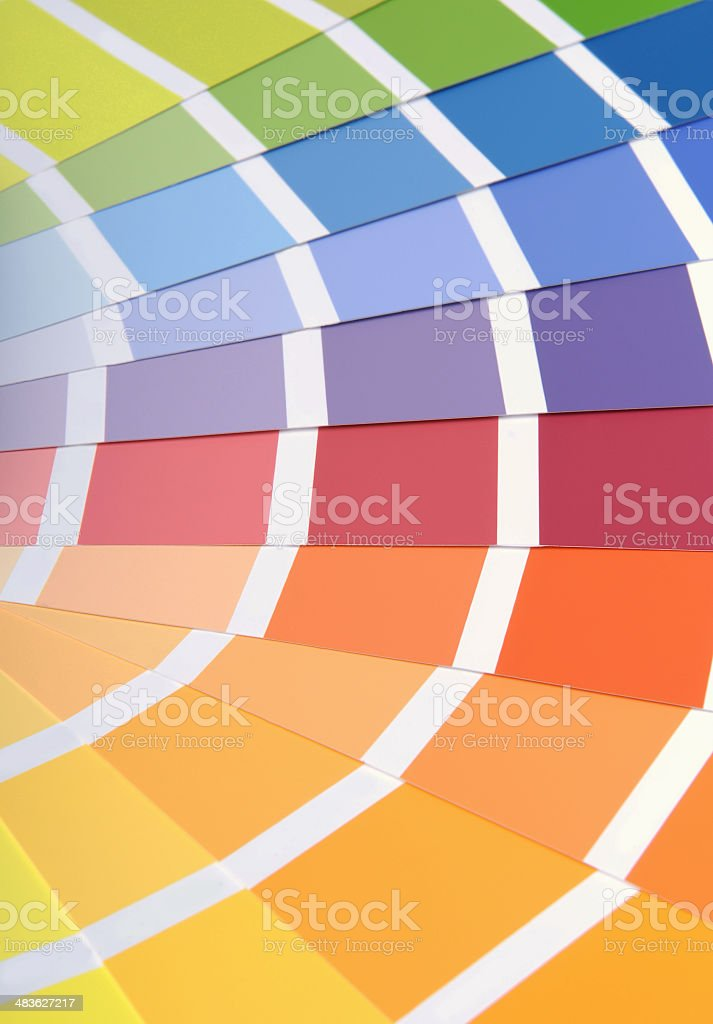 Color samples stock photo