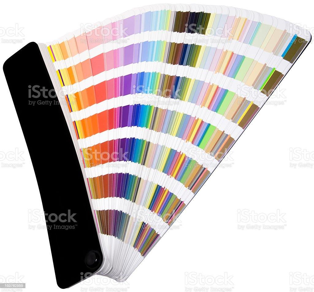 Color scale cutout stock photo