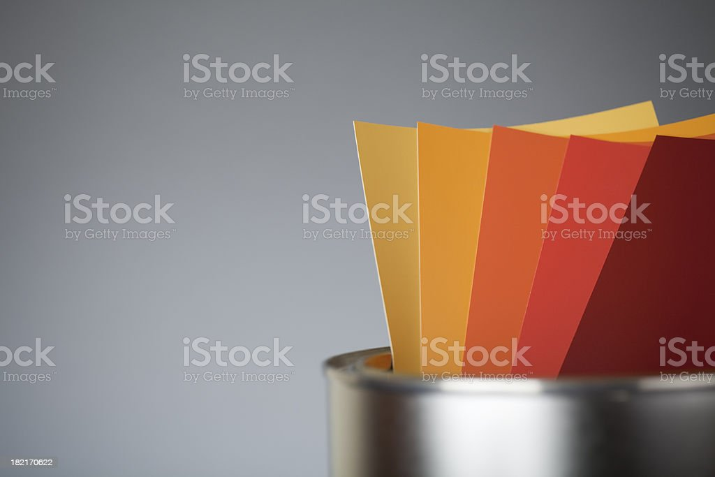 Color scale YELLOW royalty-free stock photo