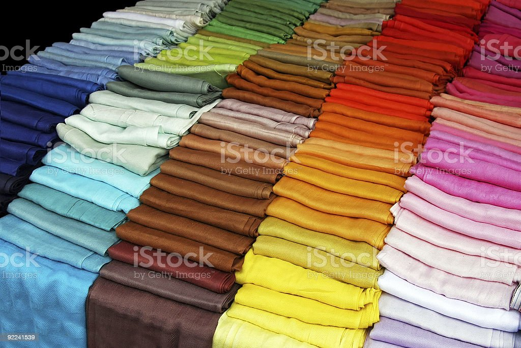 Color scarves royalty-free stock photo