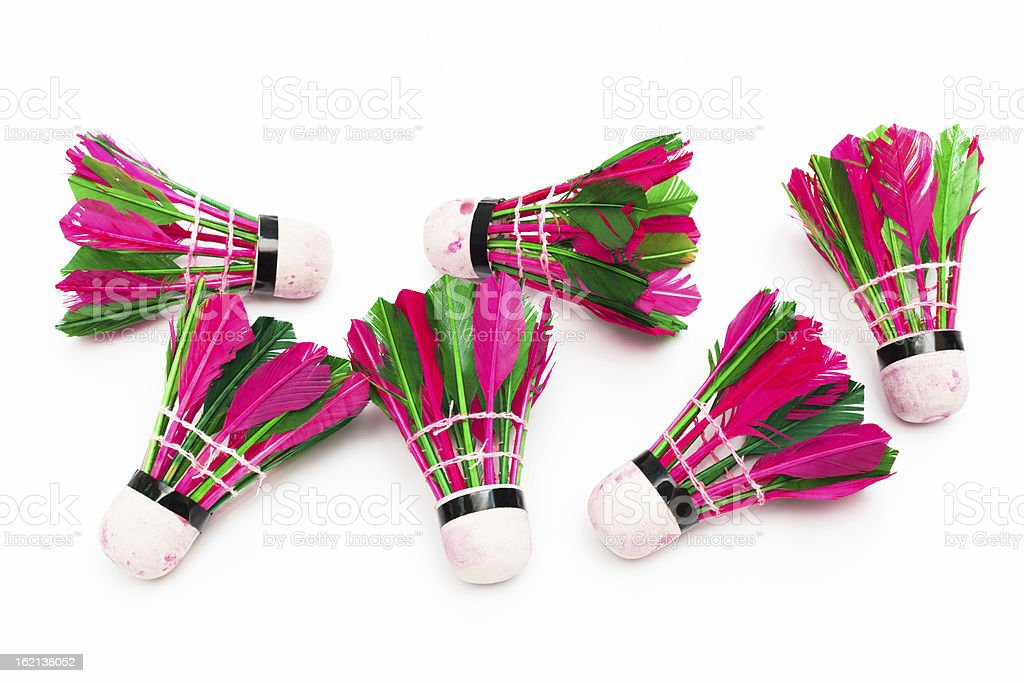 color shuttlecock royalty-free stock photo
