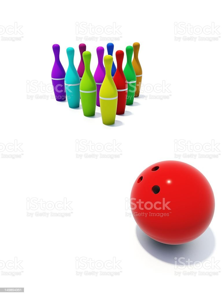 color skittles with ball stock photo