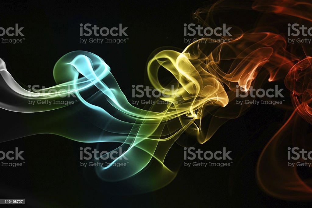 Color smoke royalty-free stock photo