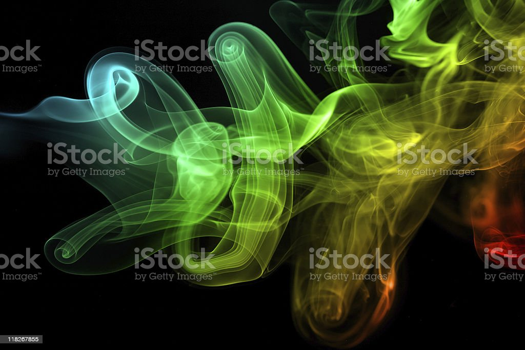 Color smoke royalty-free stock photo