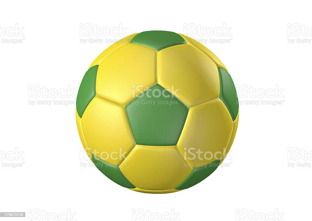 Farbe Fußball ball Lizenzfreies stock-foto