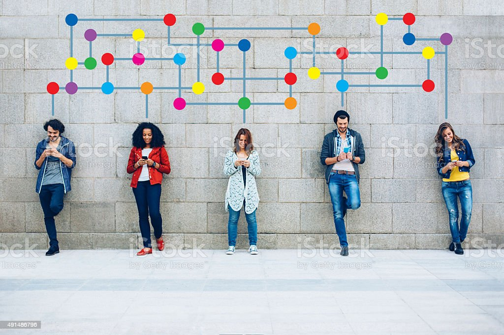 Color Social Networking royalty-free stock photo