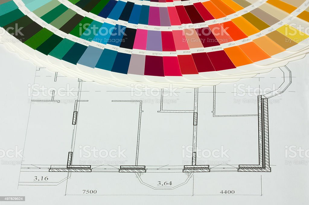 RAL color spectrum in drawing stock photo