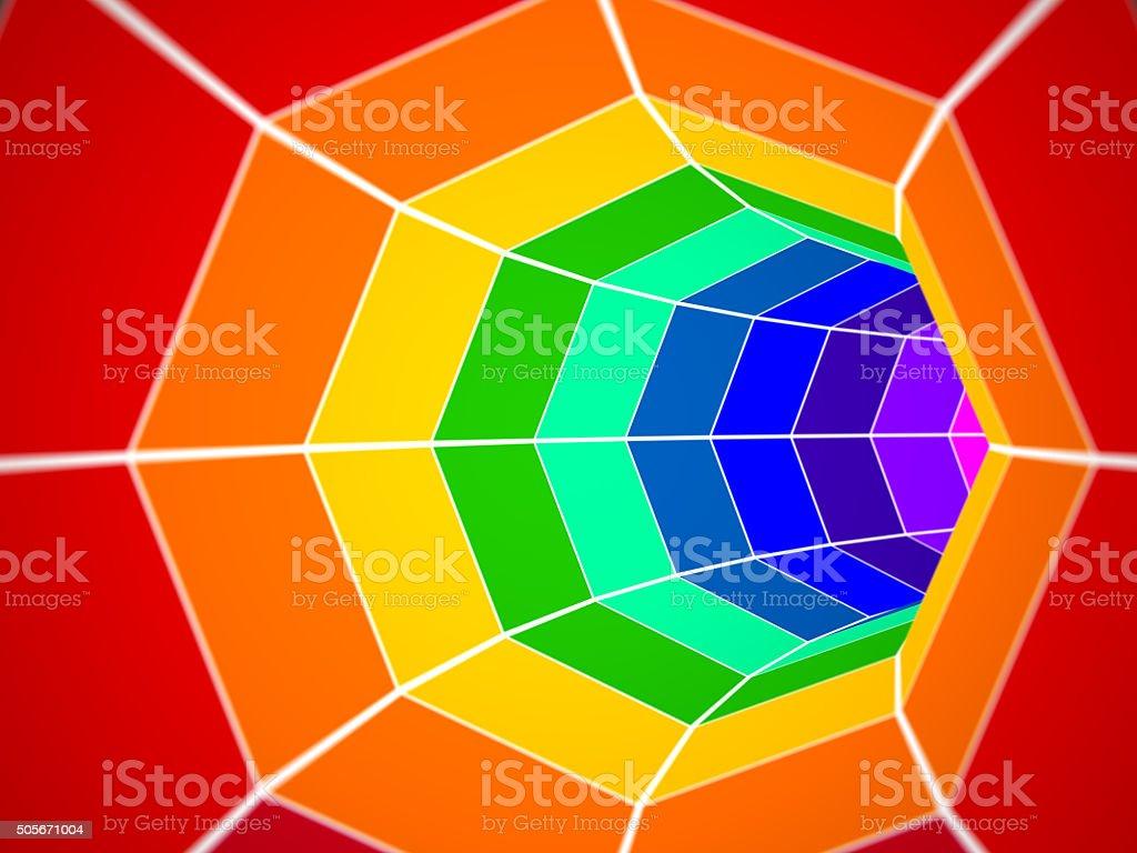 Color spectrum tunnel stock photo