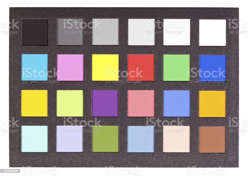 Color Swatch Card for Photo Reproduction Accuracy royalty-free stock photo