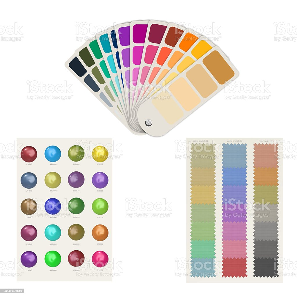 color swatch collection stock photo