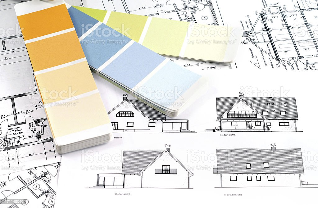 Color Swatch for home improvement blueprints royalty-free stock photo