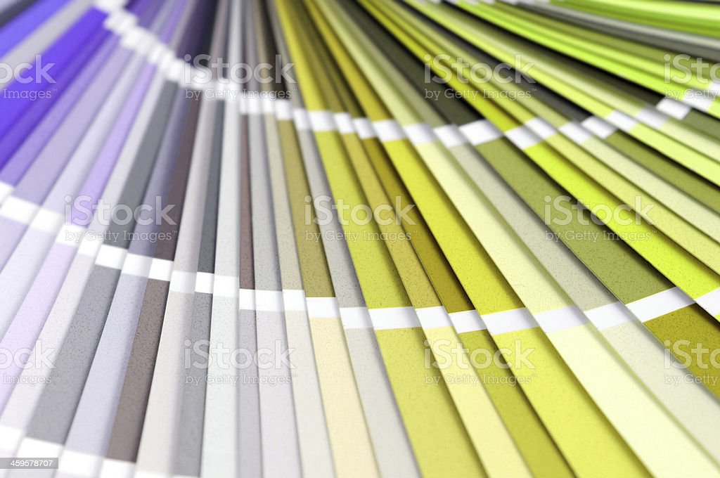 Color Swatch for home improvement painting stock photo