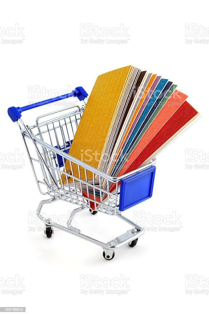 Color Swatch for home improvement with shopping cart royalty-free stock photo