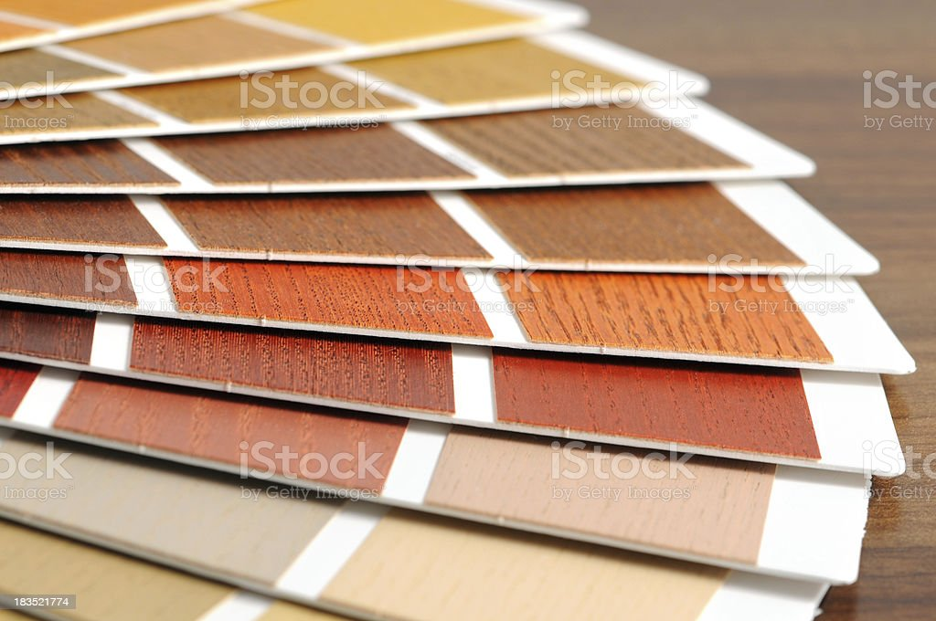 Color Swatch for wood paintings royalty-free stock photo