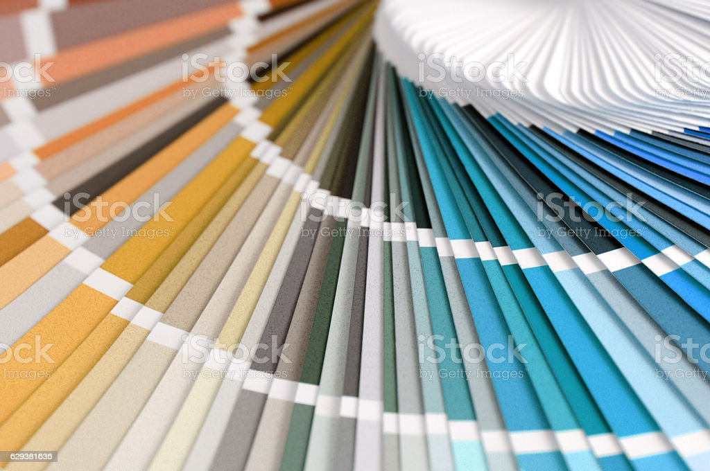color swatch in brown blue stock photo
