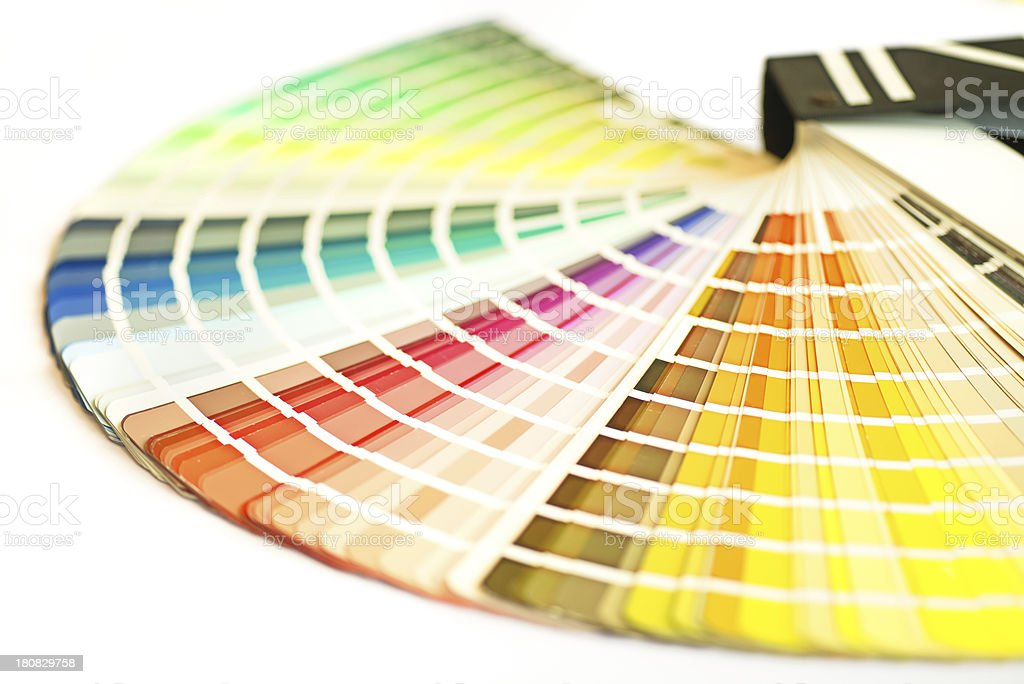 color swatch multi colored stock photo