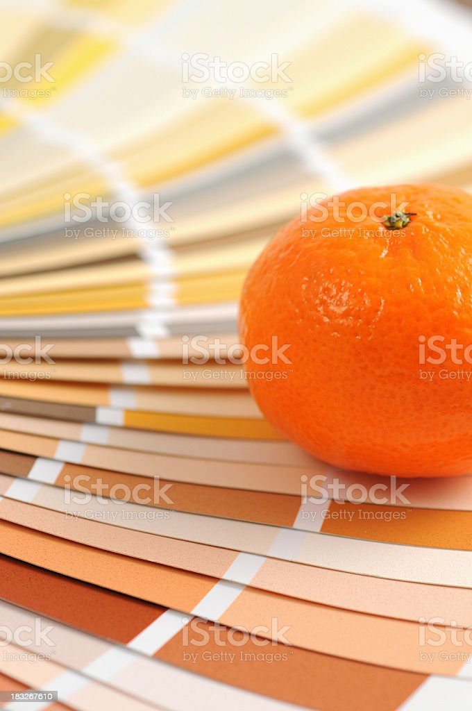 Color Swatch with orange stock photo