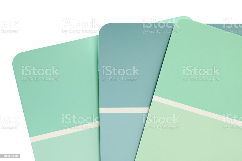 Color Swatches or Paint Samples royalty-free stock photo