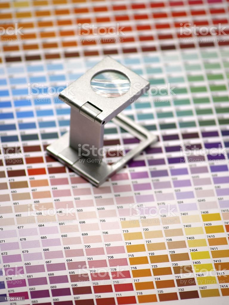 color tables magnified royalty-free stock photo