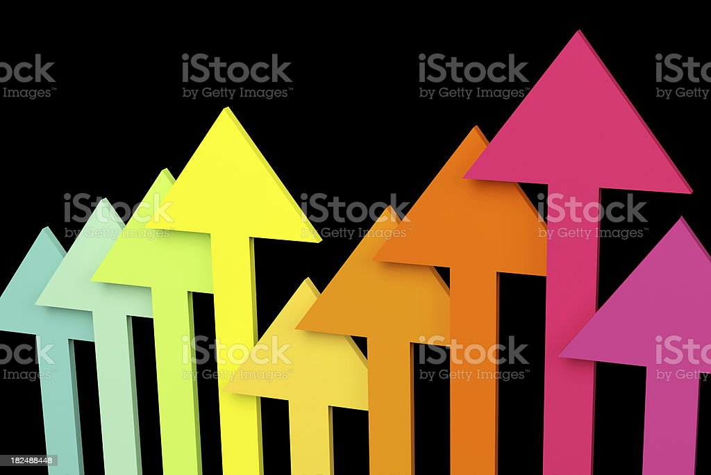 Color teams of business competition in black background royalty-free stock photo