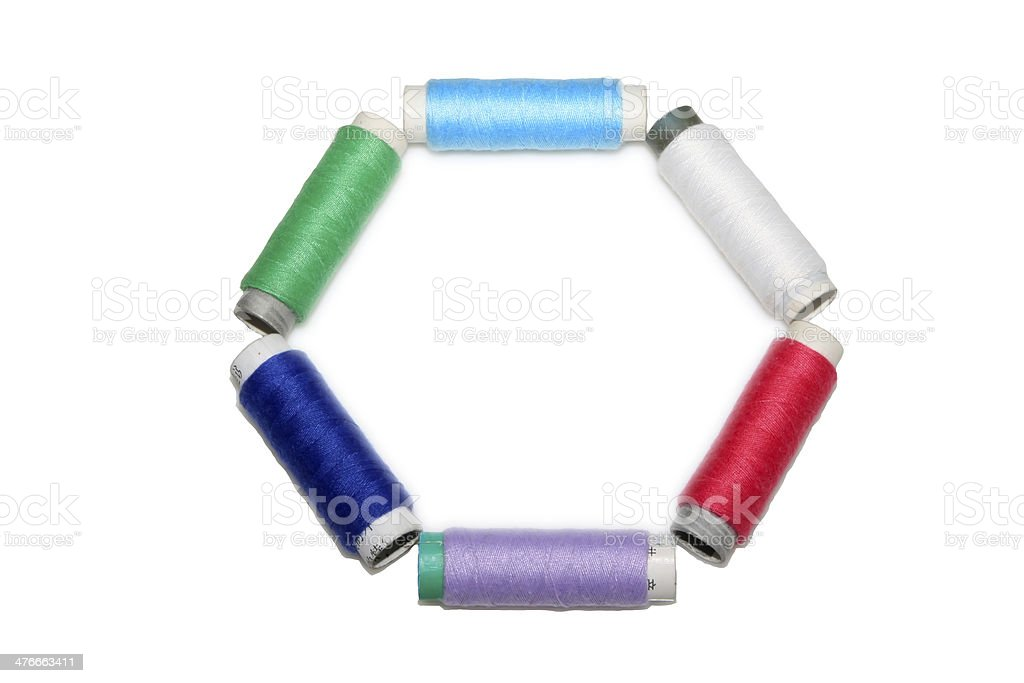 color thread spool royalty-free stock photo