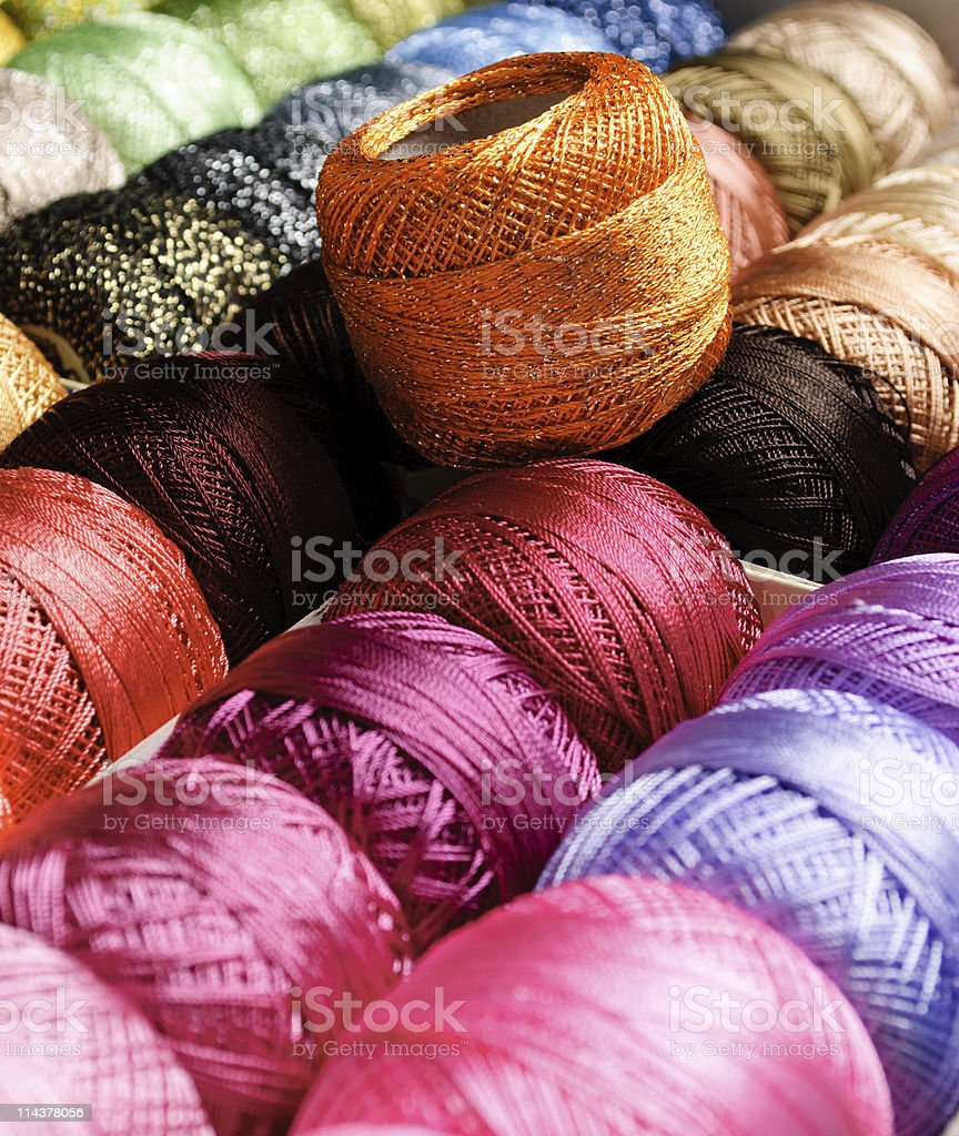 color threads royalty-free stock photo