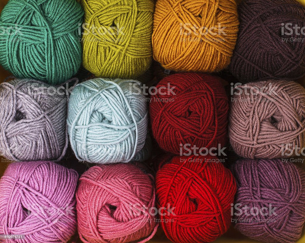 color threads stock photo