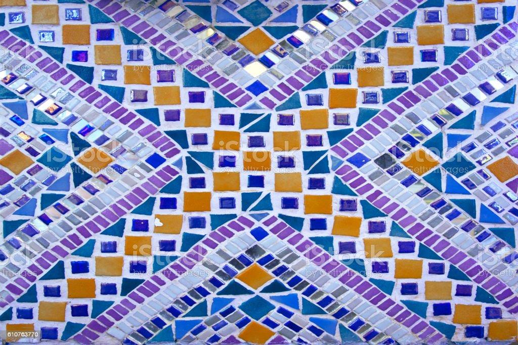 Color tiles mosaic stock photo