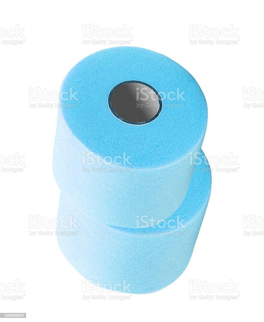 Color toilet paper rolls stock photo