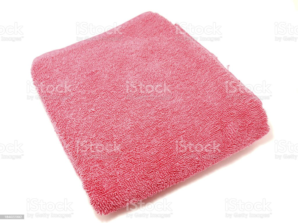 Color towels on a white background royalty-free stock photo