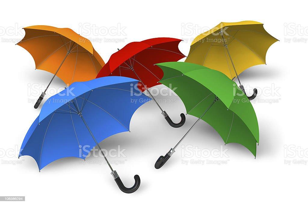 Color umbrellas stock photo