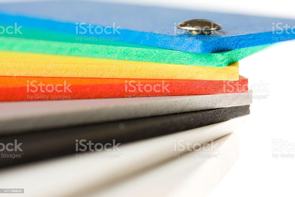 Color wheel detail stock photo