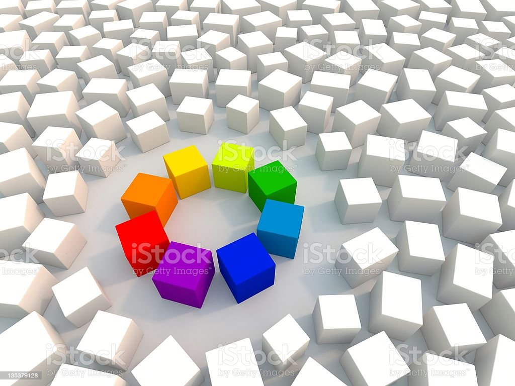 Color Wheel in Chaos royalty-free stock photo