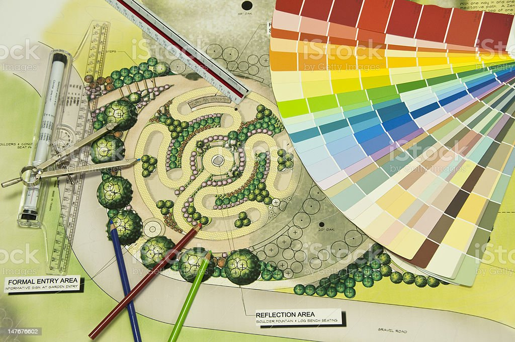 Color Wheel Landscape Design royalty-free stock photo