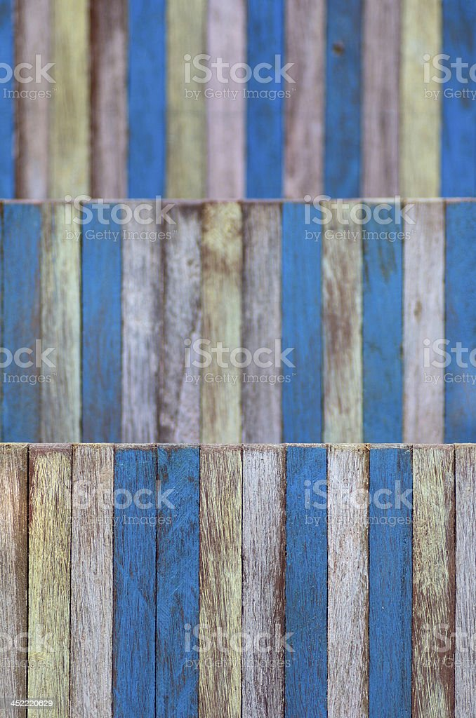 color wood wall yellow blue shallow deep of field royalty-free stock photo