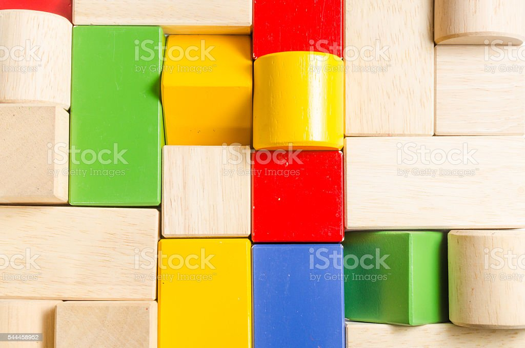 color wooden blocks stock photo