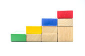 color wooden step block