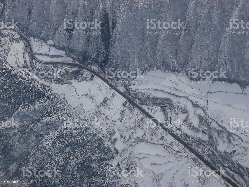 colorado aerial royalty-free stock photo