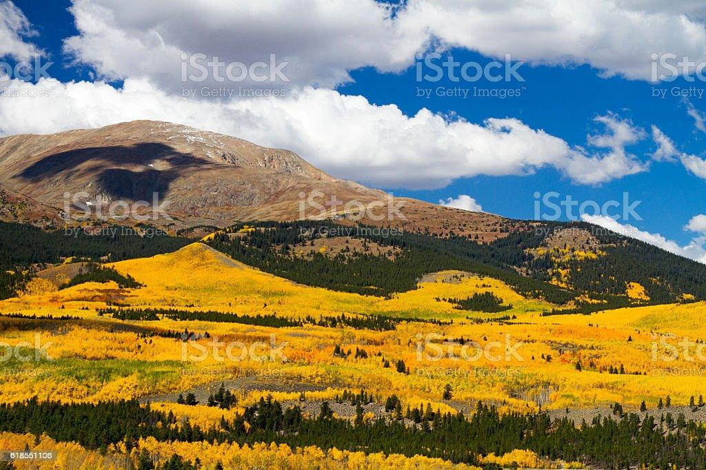 Colorado Autumn at Mt. Elbert stock photo