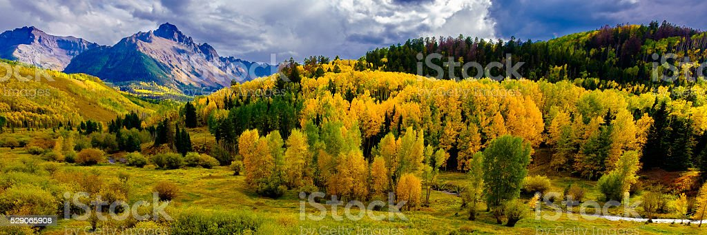 Colorado Autumn Panoramic stock photo
