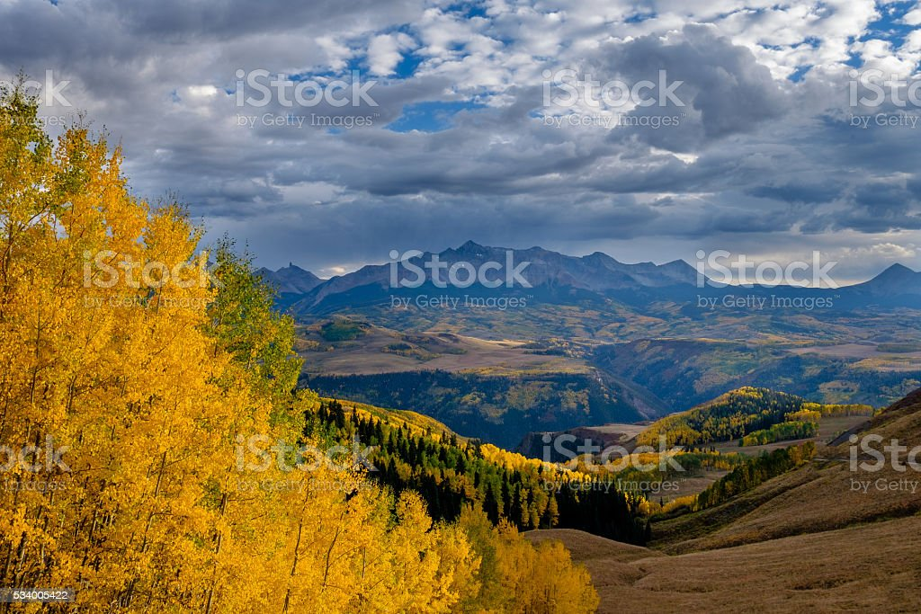 Colorado Autumn stock photo