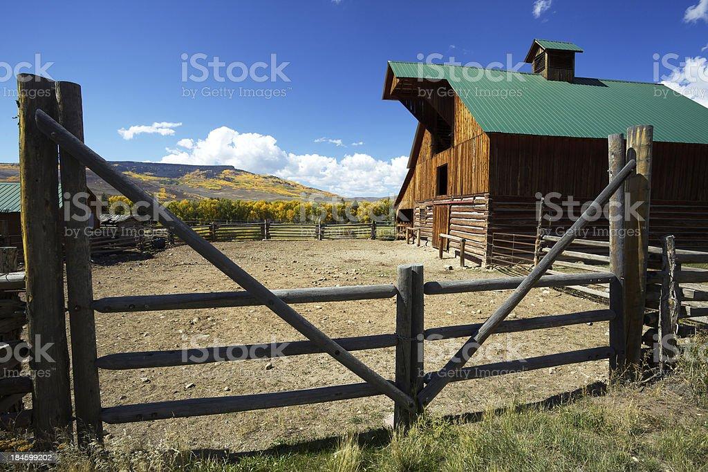 Colorado Barn royalty-free stock photo