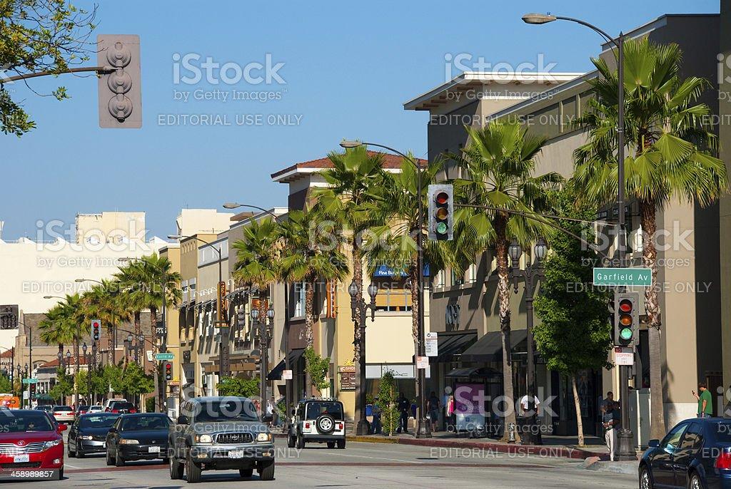 Colorado Boulevard Street Scene stock photo