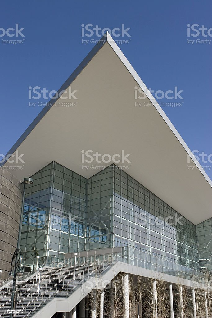 Colorado Convention Center Downtown Denver royalty-free stock photo