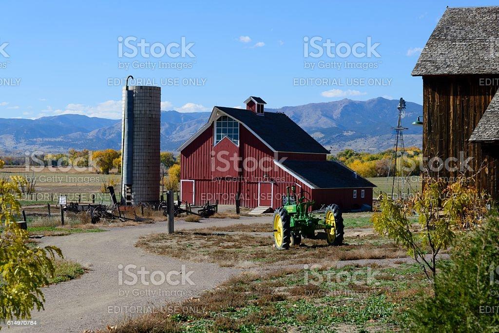 Colorado Farm Near Loveland stock photo